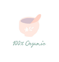 100 organic cosmetics or skin care woman concept vector image