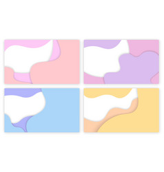 3d backdrop purple yellow geometric poster vector image