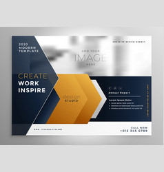 abstract professional brochure design template vector image