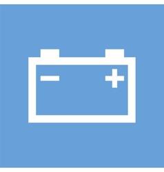 Accumulator white icon vector