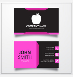 Apple icon business card template vector
