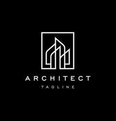 Architecture building logo real estate log vector