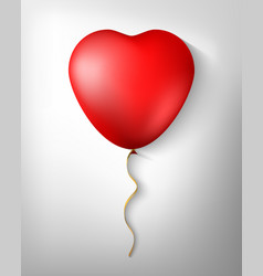 balloon in form heart isolated in a vector image