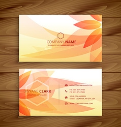 Beautiful flower business card vector