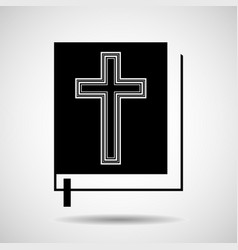 Bible icon isolated on white background religion vector