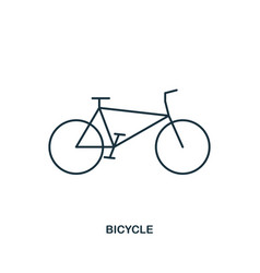 bicycle icon outline style icon design ui vector image