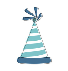 birthday hat isolated vector image