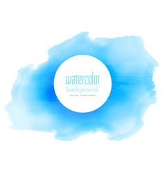 blue ink watercolor stain background vector image