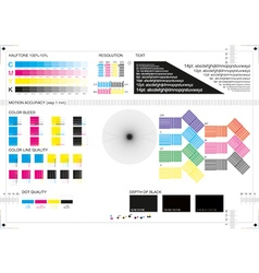 Calibration printing marks CMYK vector