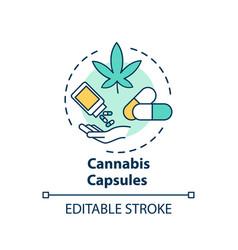 Cannabis capsule concept icon vector