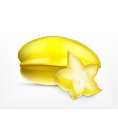 carambola and carambola slice vector image