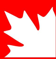 Card maple leaf vector