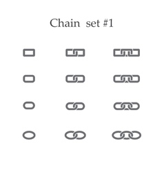 Chain set one vector image