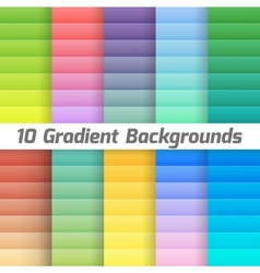 Colorful line gradient background pack vector image