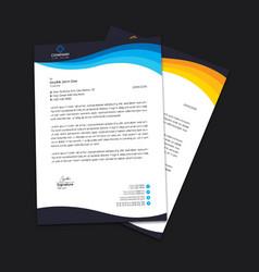 corporate business letterhead template design vector image