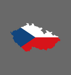 Czech republic flag and map vector
