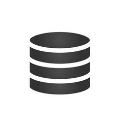 database icon isolated on white background vector image