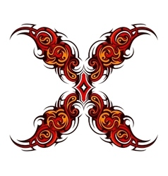 Decorative cross tattoo vector image