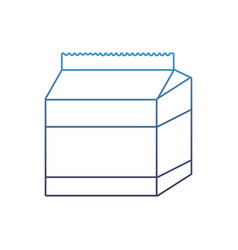 Degraded line fresh milk box healthy product vector