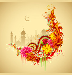 Eid Mubarak Happy Eid background vector image