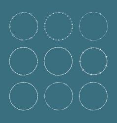 elegant traditional tribal round frames vector image