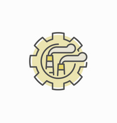 Factory in gear concept icon vector