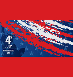 Fourth of july independence day of the usa vector