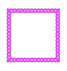 frame of flowers on a white background isolated vector image