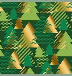 geometric christmas tree luxury seamless pattern vector image