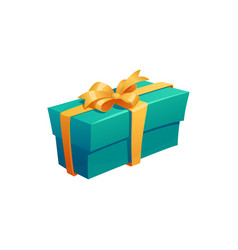 gift icon present packaging with ribbon bow vector image