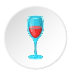 Glass of wine icon cartoon style vector image