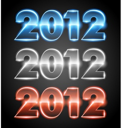 Happy new year 2012 message set vector