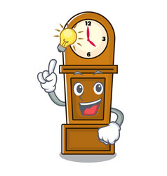 Have an idea grandfather clock mascot cartoon vector