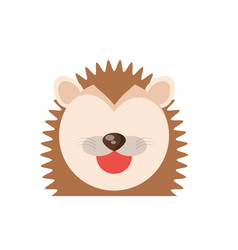 Head cute porcupine animal image vector