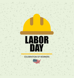 Labor day in usa banner vector