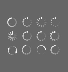 Loader icon circle button load sign ymbol vector