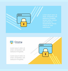 locked website abstract corporate business banner vector image