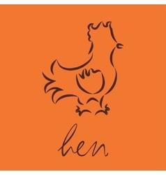 logo of hen vector image
