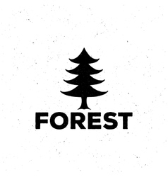 logo or emblem of a black fir-tree grung style vector image