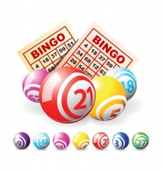 lottery balls vector image