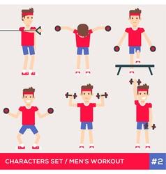 Men workout set2 vector