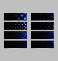Modern abstract dot pattern banner background vector