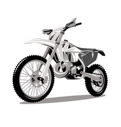 motorcycle cross jumping graphic vector image