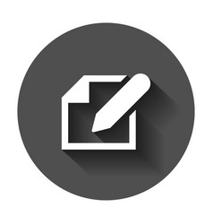 notepad edit document with pencil icon with long vector image
