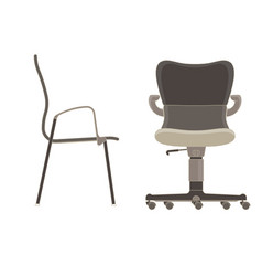 office chair icon set business furniture isolated vector image vector image