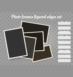 Old photo edges vector