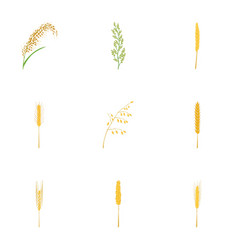 organic product icons set cartoon style vector image