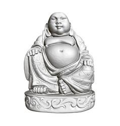 polygonal statue maitreya 3d front view vector image