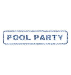 Pool party textile stamp vector