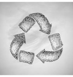 Recycle sign icon vector